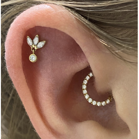 ©The Ring Daith Round Popart Piercing 8