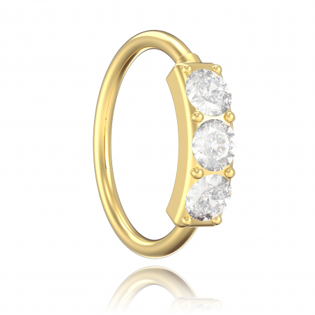 ©Le Little Ring 3 Strass Popart Piercing 1