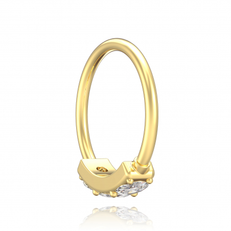 ©Le Little Ring 3 Strass Popart Piercing 5