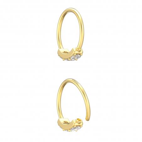 ©Le Little Ring 3 Strass Popart Piercing 9