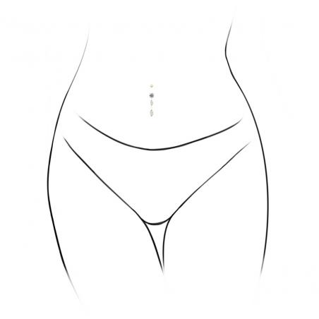 ©Le Belly 2 Ovales Pendants Popart Piercing
