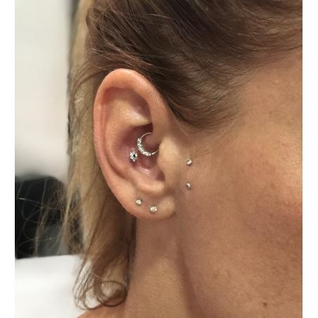 Piercing anneau daith et helix - 5