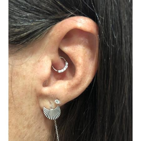 Piercing anneau daith et helix - 6