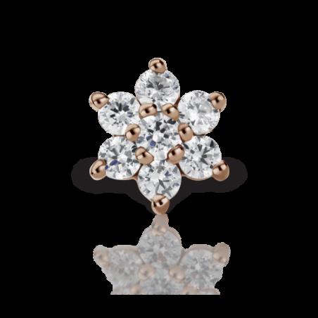 Maria Tash Fleur Or Rose 7 diamants - 3