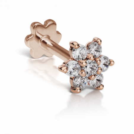 Maria Tash Fleur Or Rose 7 diamants - 1