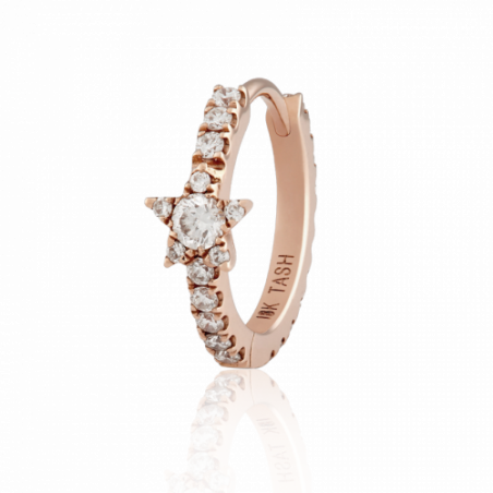 Maria Tash - Ring Diamant star Or Rose 9,5 - 1