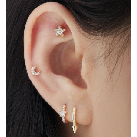 Maria Tash Fleur Or Rose 7 diamants - 4