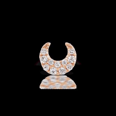 Piercing Maria Tash Lune 11 diamants - 8
